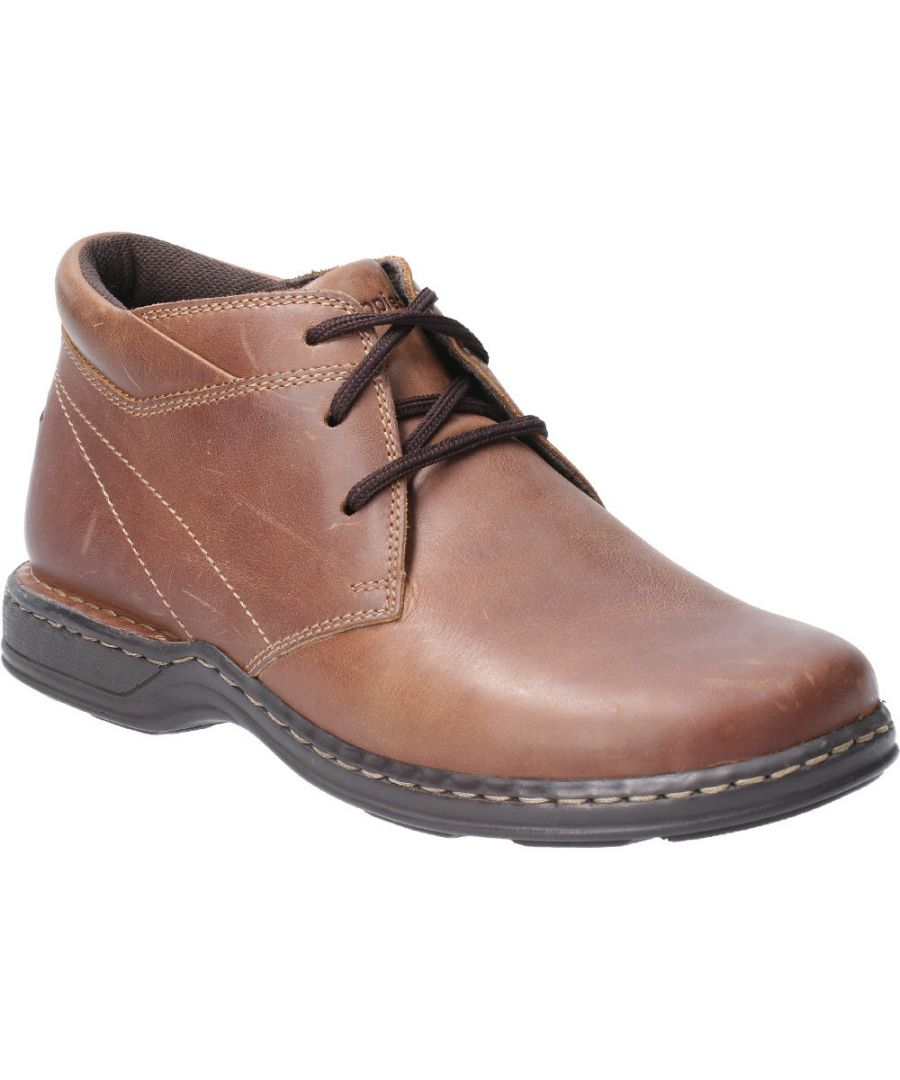 Image for Hush Puppies Mens Reggie Lace Up Leather Casual Chukka Boots