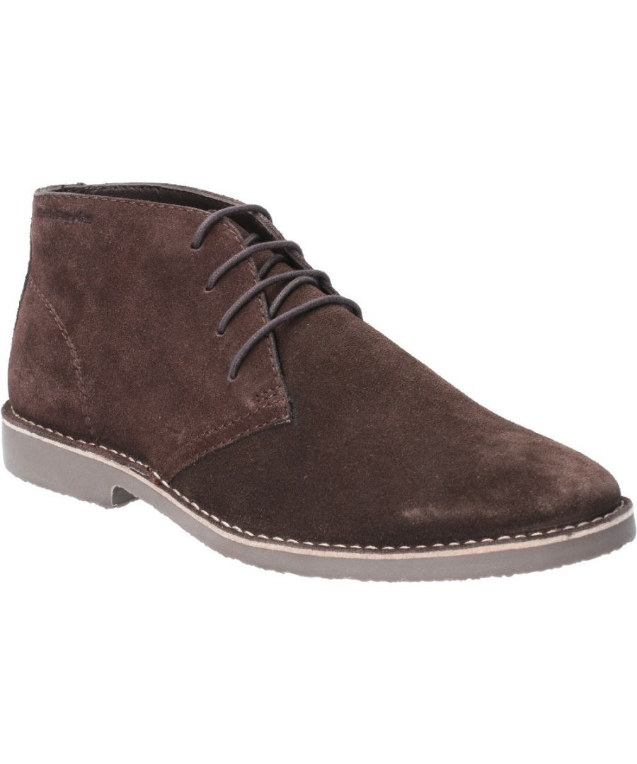 Image for Hush Puppies Mens Freddie Lace Up Lightweight Desert Boots