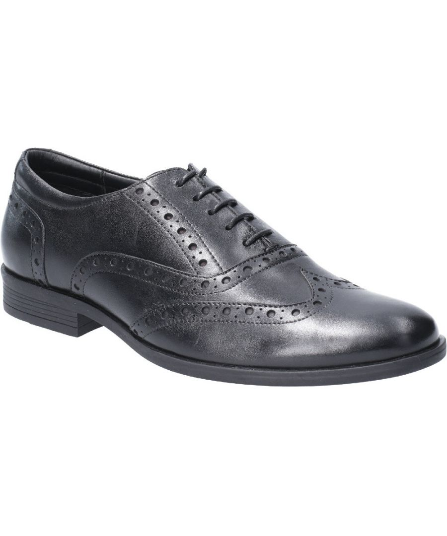 Image for Hush Puppies Mens Oaken Brogue Lace Up Leather Oxford Shoes