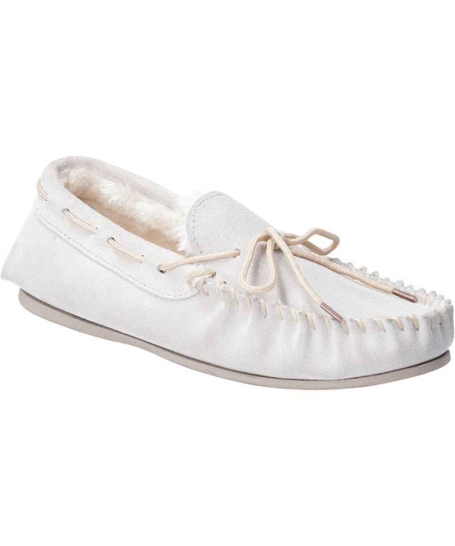Image for Hush Puppies Womens Allie Suede Faux Fur Lined Cozy Slippers