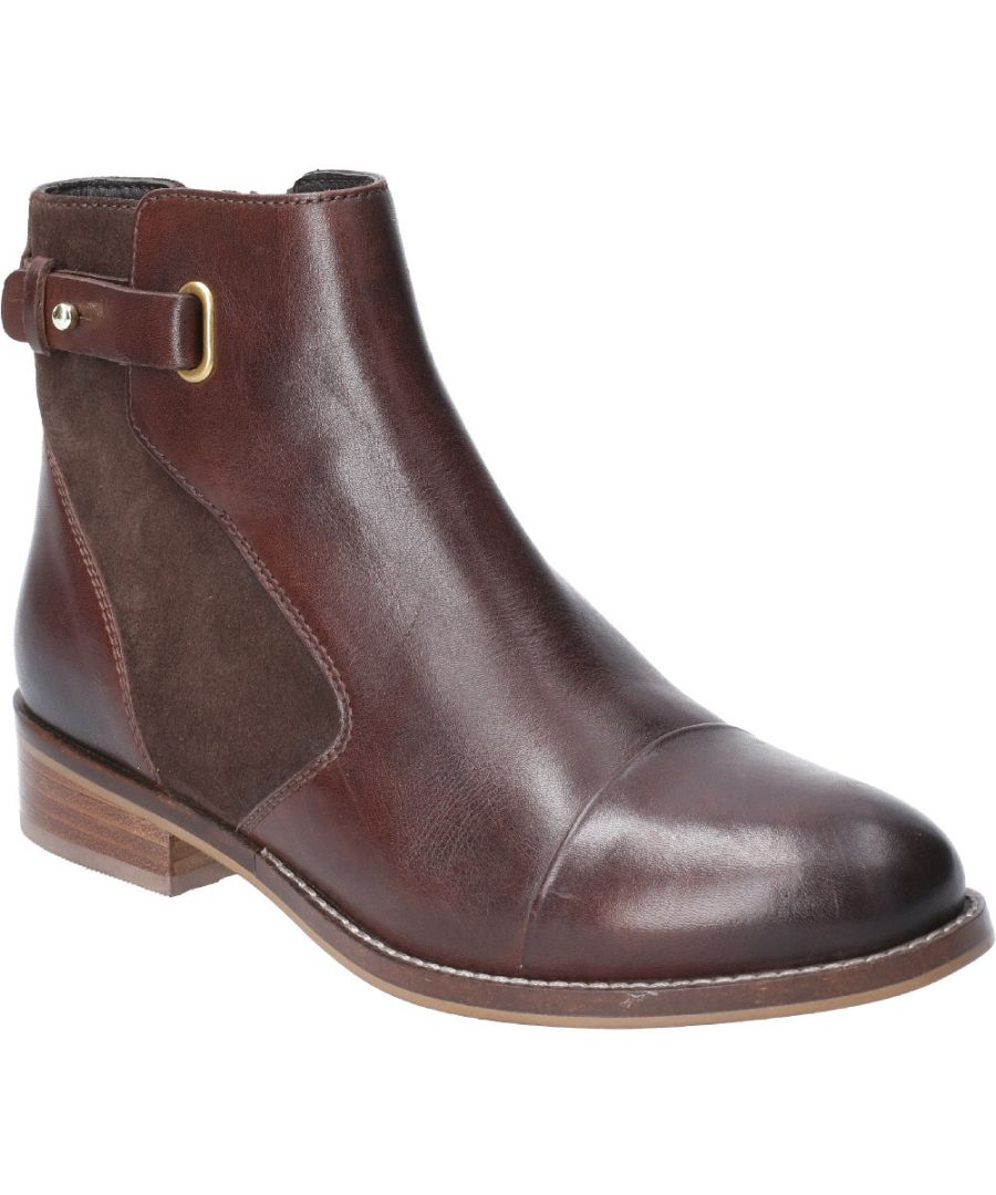 Image for Hush Puppies Womens Hollie Zip Up Leather Ankle Boots