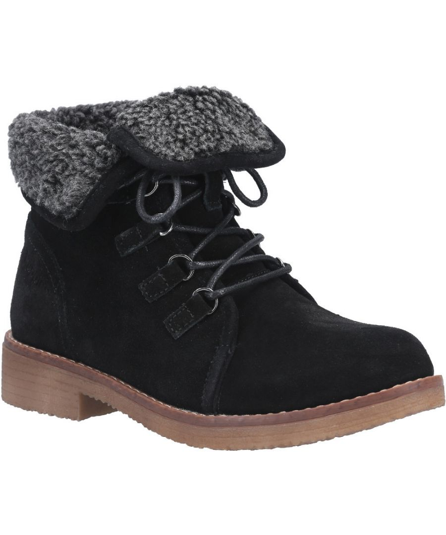 Image for Hush Puppies Womens Milo Zip Up Fur Collared Ankle Boots