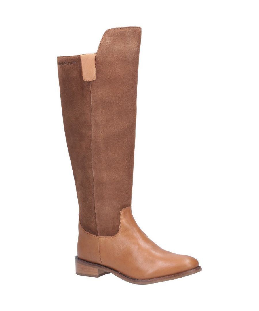 Image for Hush Puppies Womens Alani Zip Up Leather Suede Long Boots