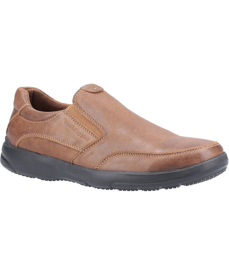 Image for Hush Puppies Mens Aaron Slip On Leather Loafer Shoes