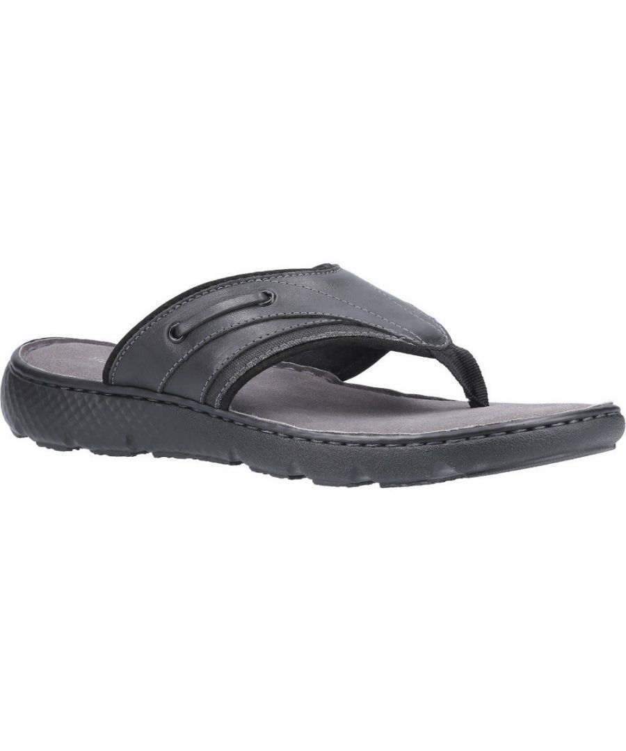 Image for Hush Puppies Mens Connor Slip On Durable Leather Flip Flops