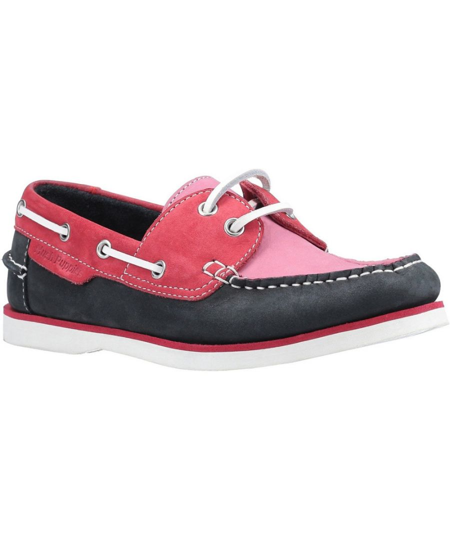 Image for Hush Puppies Womens Hattie Leather Lace Up Boat Shoes