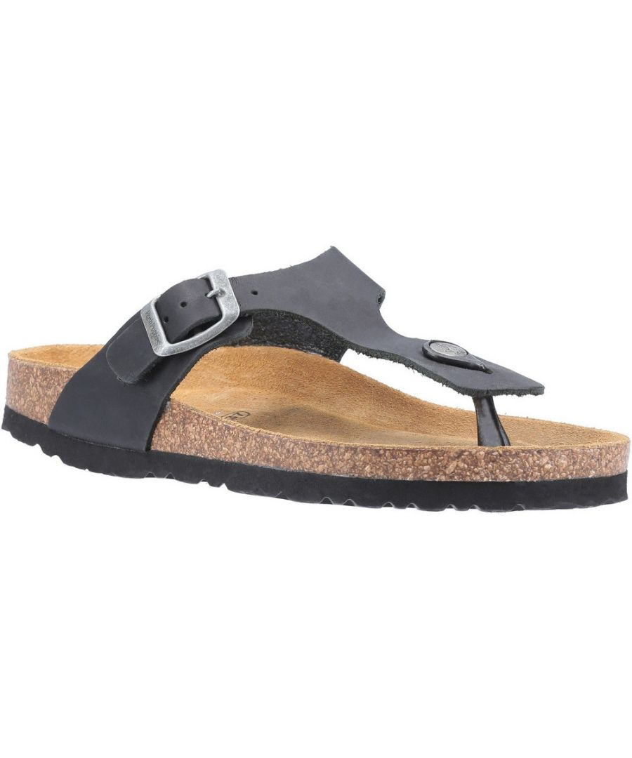 Image for Hush Puppies Womens Kayla Leather Slip On Sandals