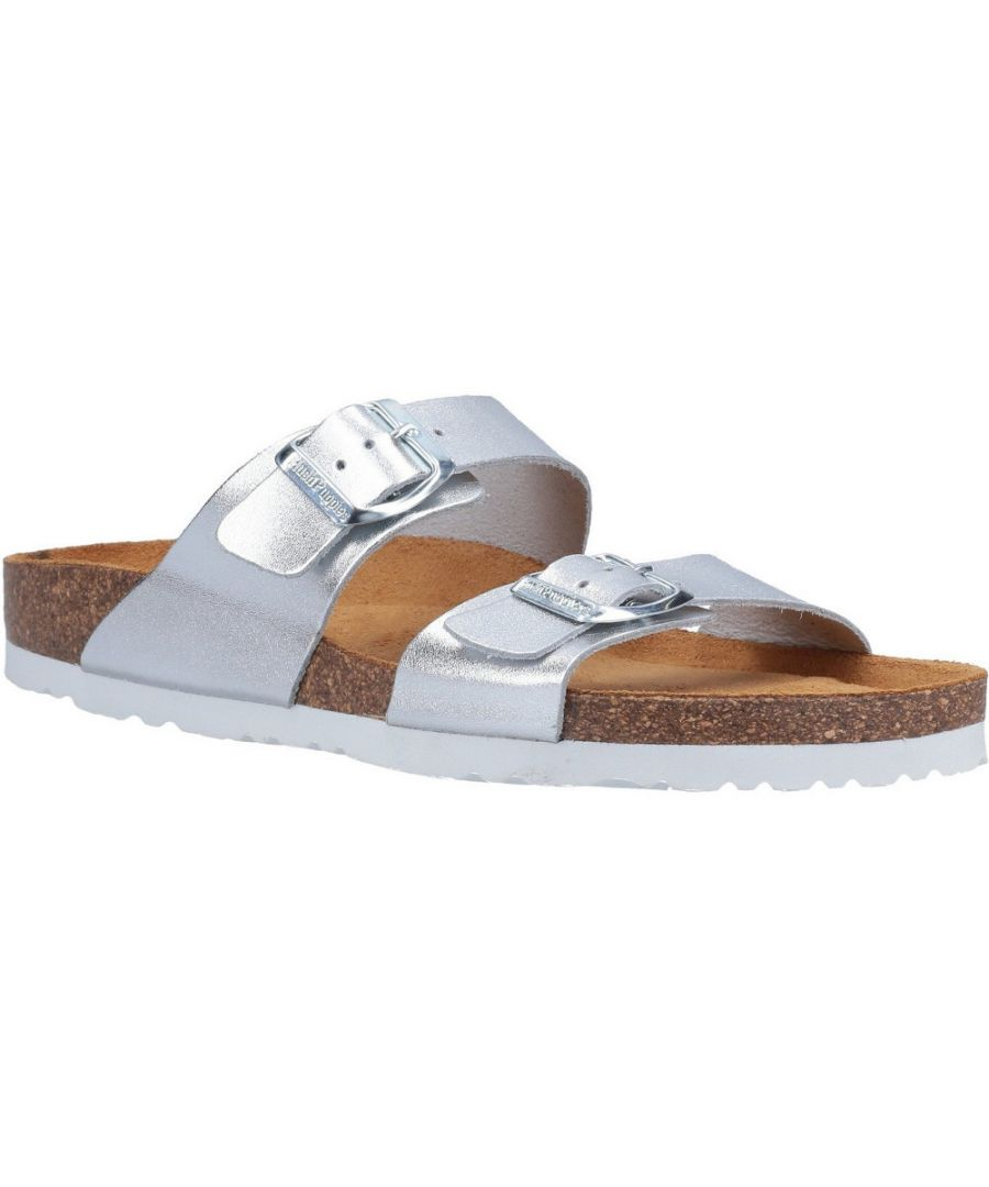 Image for Hush Puppies Womens Kylie Leather Mule Slider Sandals