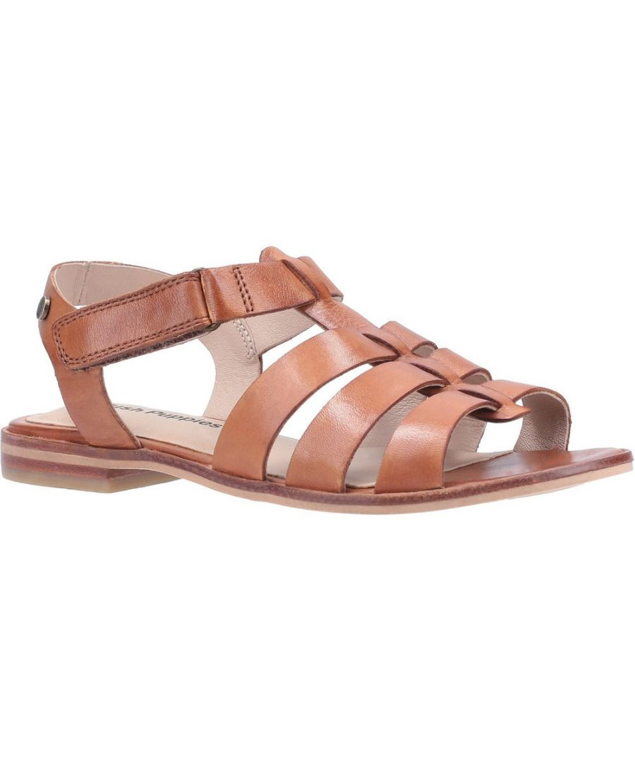 Image for Hush Puppies Womens Laila Leather Gladiator Summer Sandals