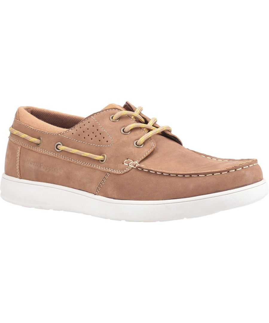 Image for Hush Puppies Mens Liam Breathable Leather Boat Shoes