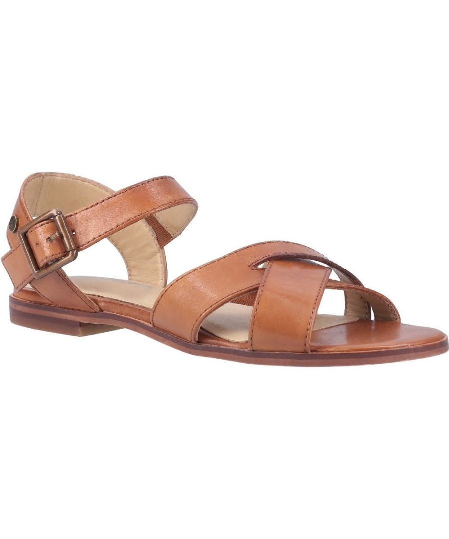 Image for Hush Puppies Womens Lila Durable Leather Buckle Sandals