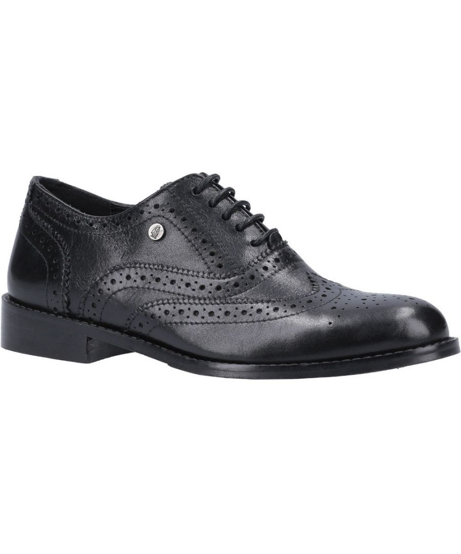 Image for Hush Puppies Womens Natalie Leather Brogue Lace Up Shoes