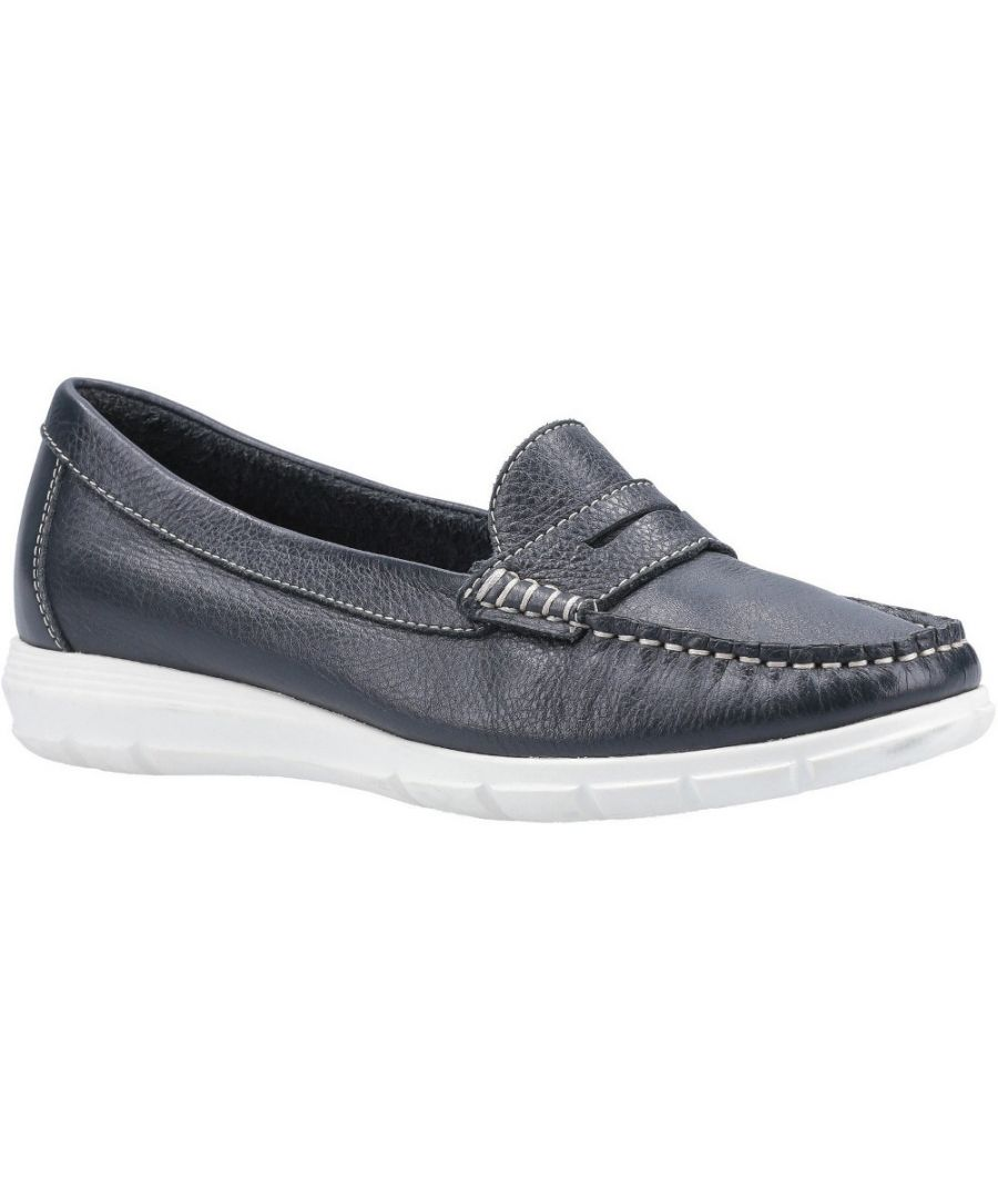 Image for Hush Puppies Womens Paige Slip On Leather Loafer Shoes