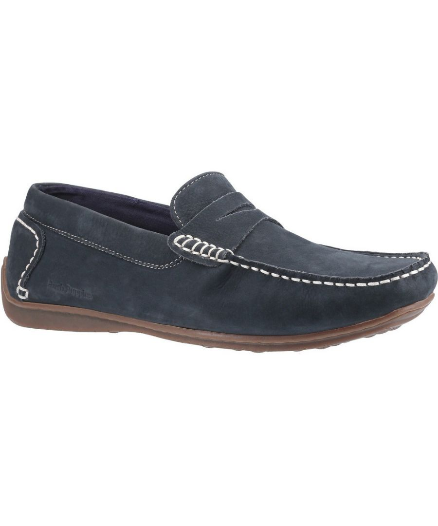 Image for Hush Puppies Mens Roscoe Leather Slip On Loafer Shoes
