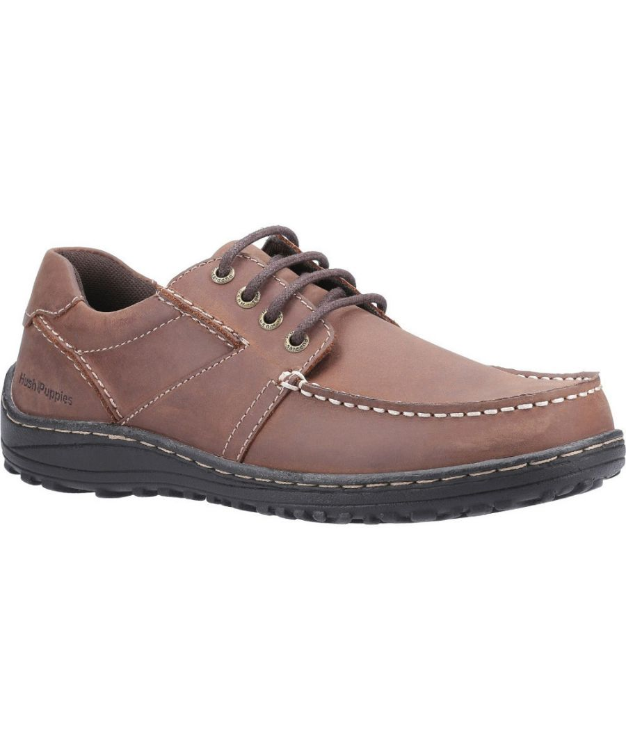 Image for Hush Puppies Mens Theo Breathable Moccasin Leather Shoes