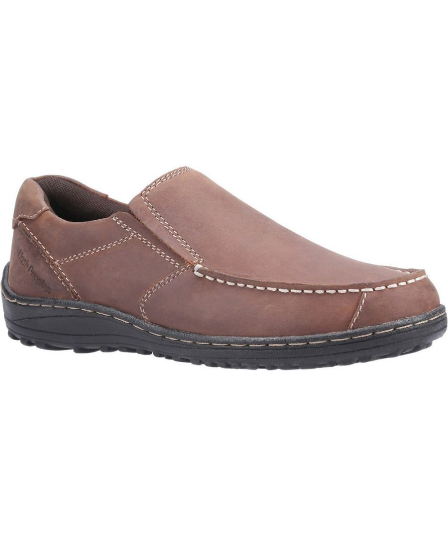 Image for Hush Puppies Mens Thomas Leather Slip On Loafer Shoes