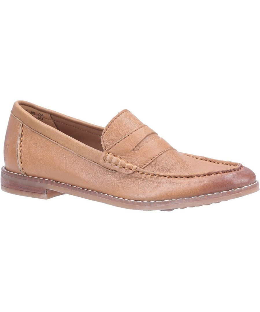 Image for Hush Puppies Womens Wren Slip On Leather Loafer Shoes