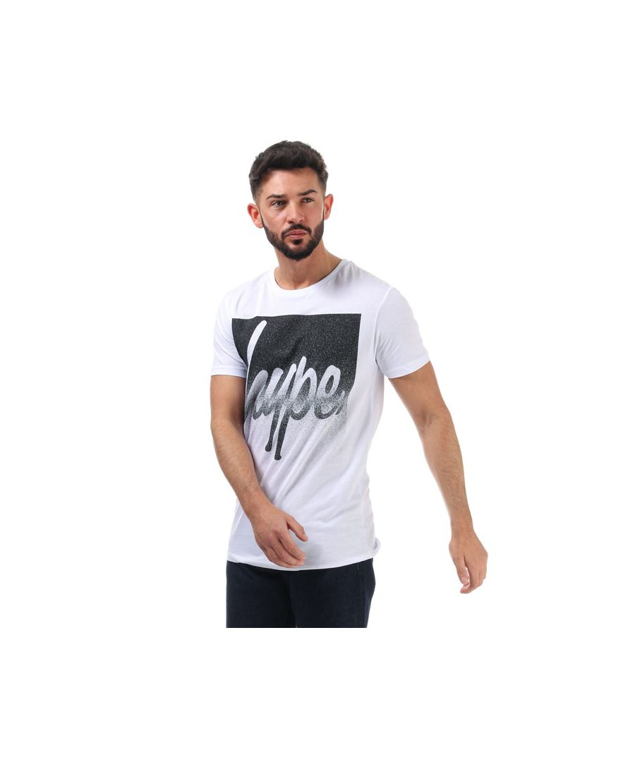Image for Men's Hype Speckle Box T-Shirt in White