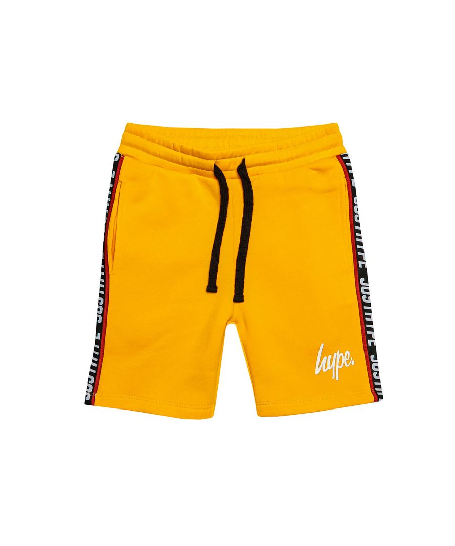 Image for Boy's Hype Junior Taylor Tape Shorts in Yellow