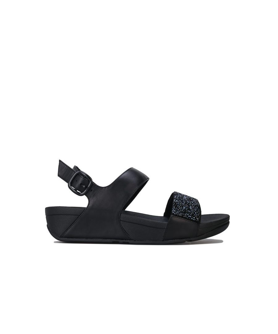 Image for Women's Fit Flop Sparklie Crystal Sandals in Black
