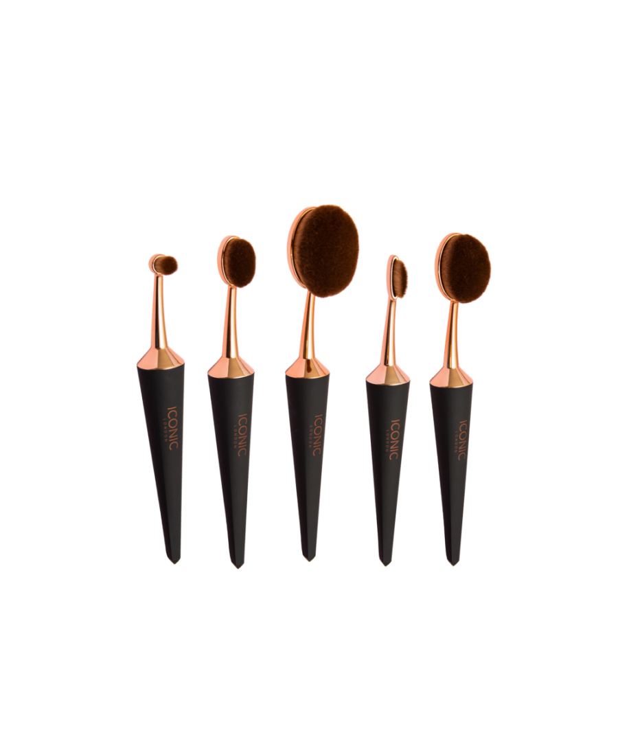 Image for Iconic London Evo Sculpt 5 Brush Set - Black & Rose