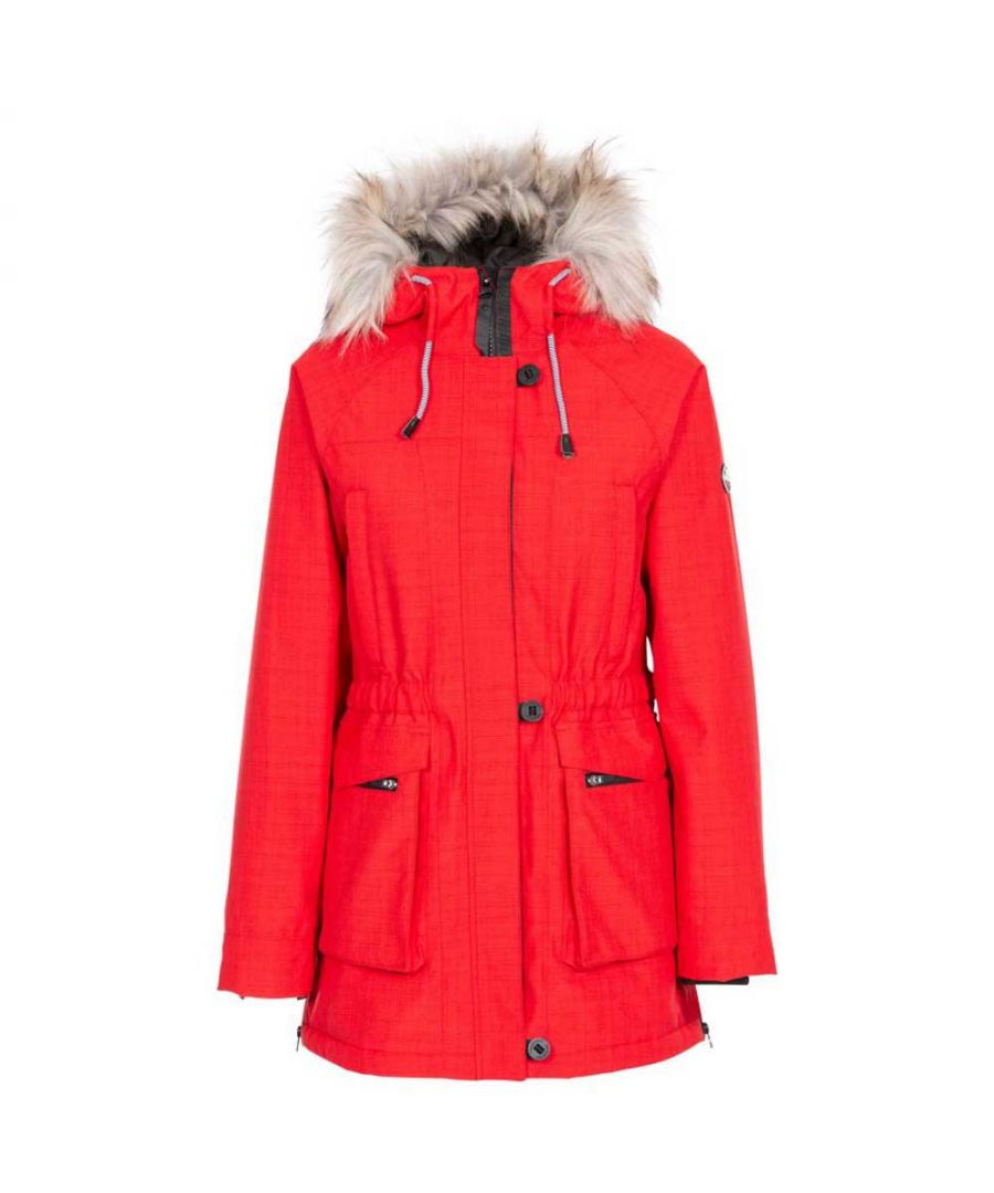 Image for Trespass Women's Caption Waterproof Parka (Red)