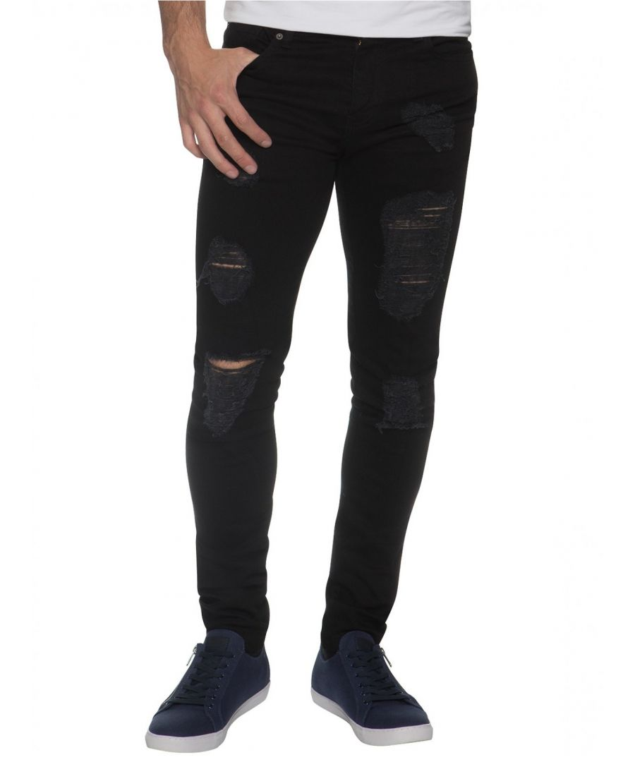 Image for Mens Denim Ripped Denim Jeans  | Enzo Designer Menswear