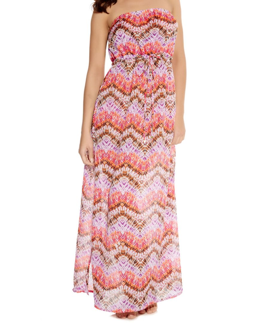 Image for Inferno Strapless Maxi Long Day Beach Dress