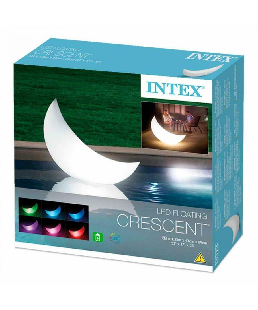 Image for Intex 68693 Led Floating Halfmoon Garden Lamp/Light Crescent