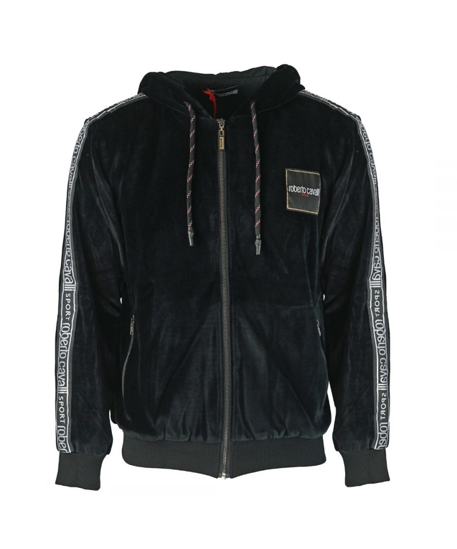 Image for Roberto Cavalli Sport Black Zip Hoodie