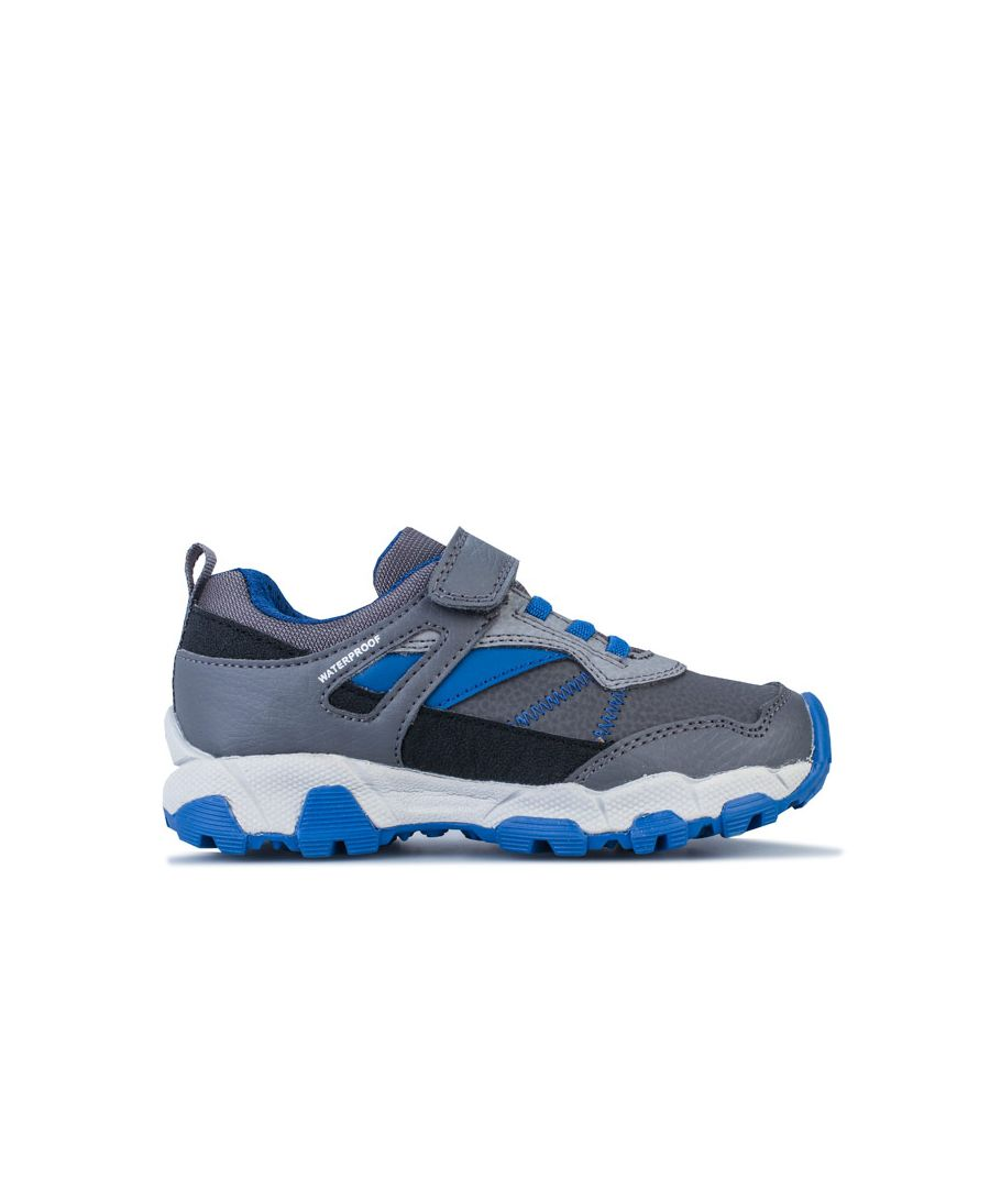 Image for Boy's Geox Children Magnetar Trainers in Grey blue