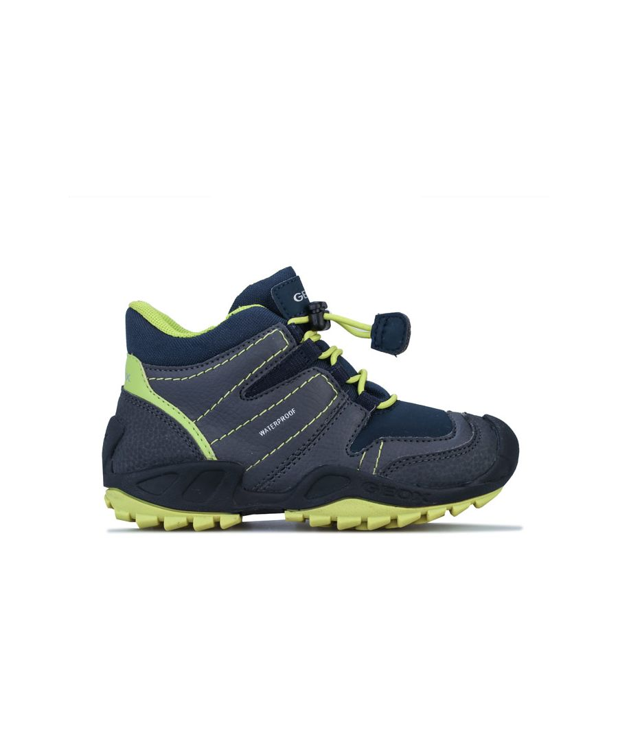 Image for Boy's Geox Children New Savage Trainers in Grey blue