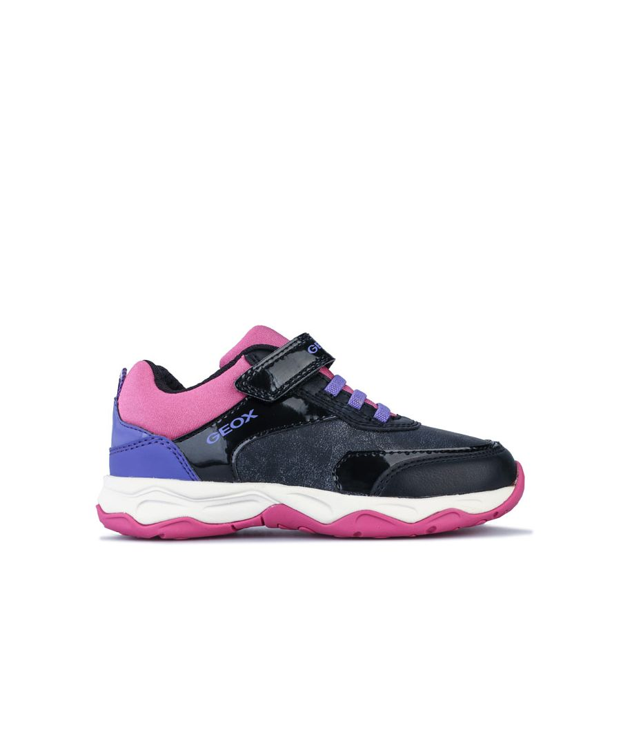 Image for Girl's Geox Junior Calco Trainers in Black