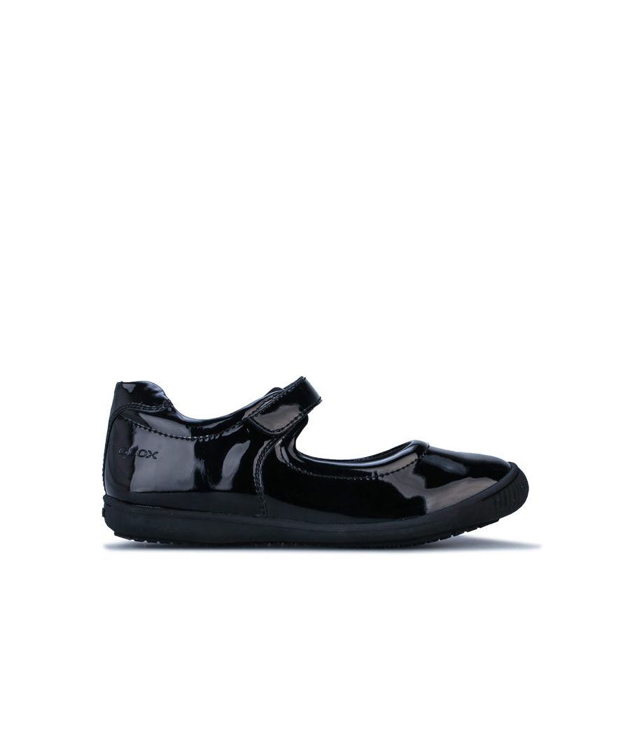 Image for Girl's Geox Junior Gioia Patent Shoe in Black