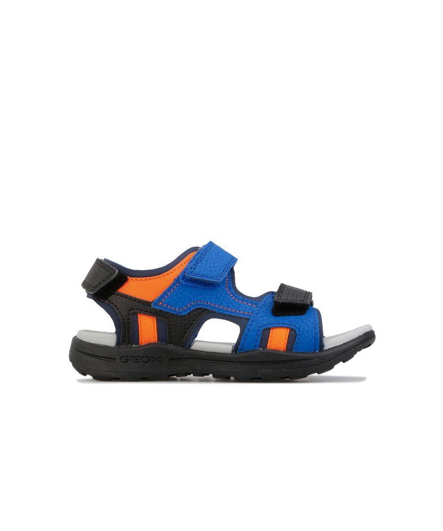 Image for Boy's Geox Children Vaniett Sandals in Blue