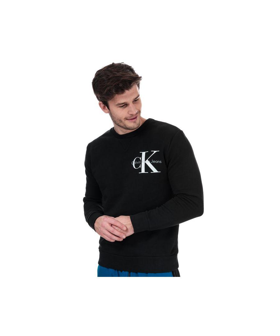 Image for Men's Calvin Klein Logo Sweatshirt in Black