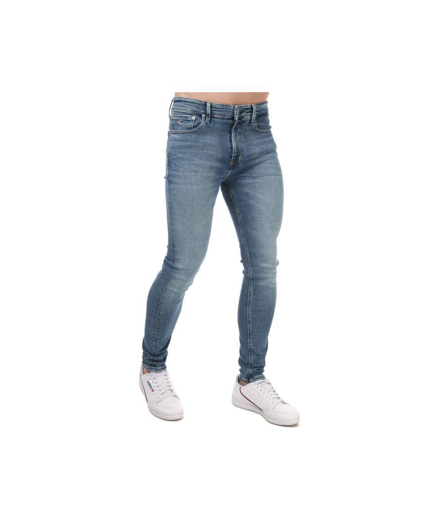 Image for Men's Calvin Klein Super Skinny Jeans Denim 28Rin Denim