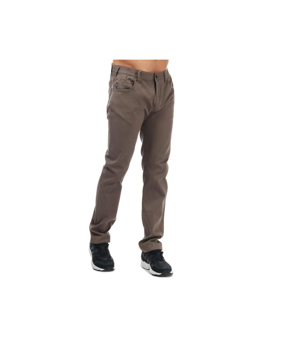 Image for Men's Armani J45 Slim Fit Jeans in Brown