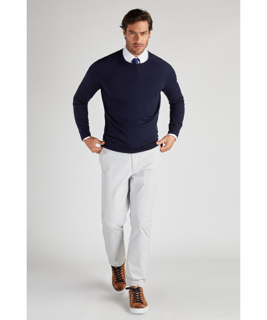 Image for Men s Casual Knitted Sweater with Silk