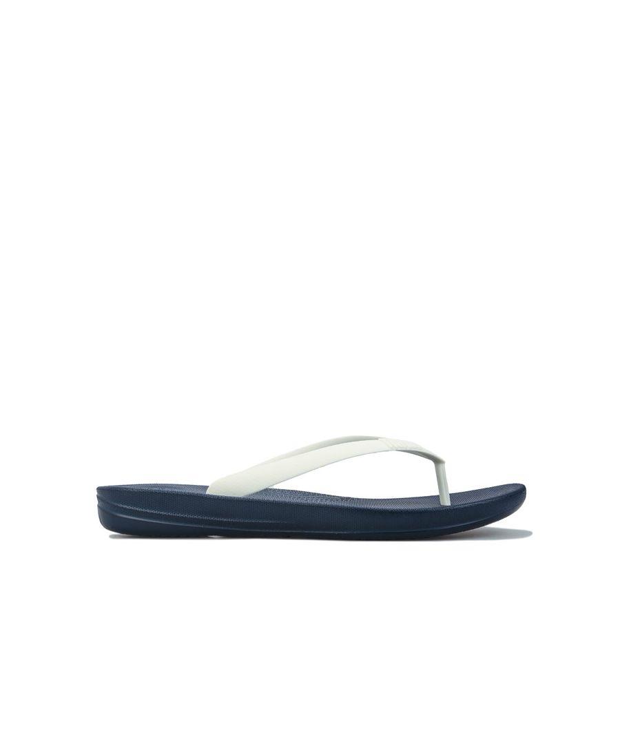 Image for Men's Fit Flop Iqushion Ergonomic Flip Flops in Navy