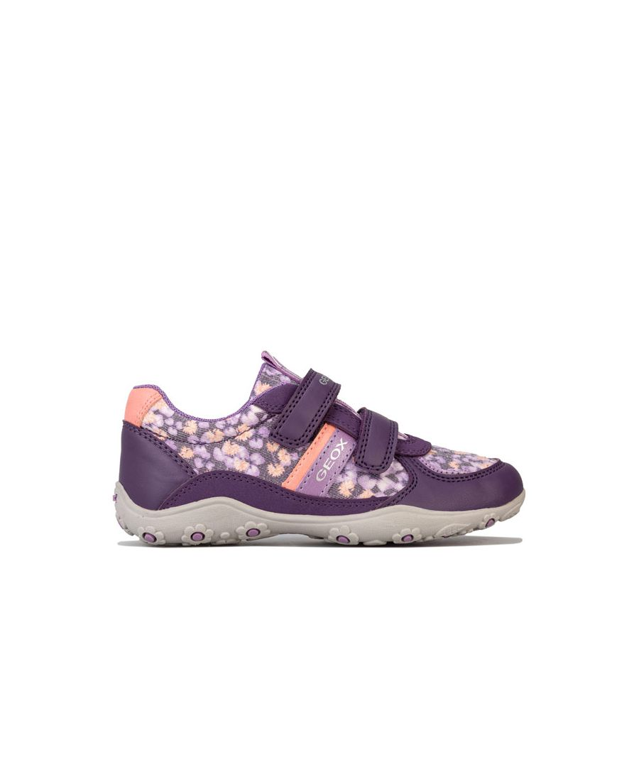 Image for Girl's Geox Children Adalyn Trainers in Lilac