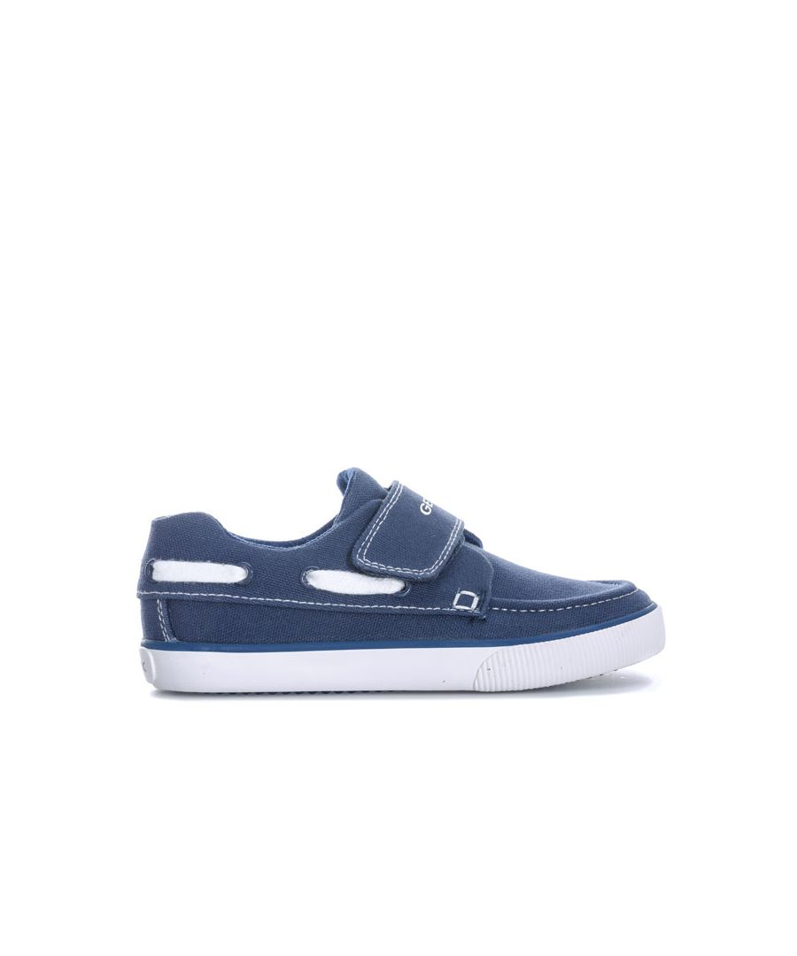 Image for Boy's Geox Junior Kilwi Trainer Pumps in Navy-White