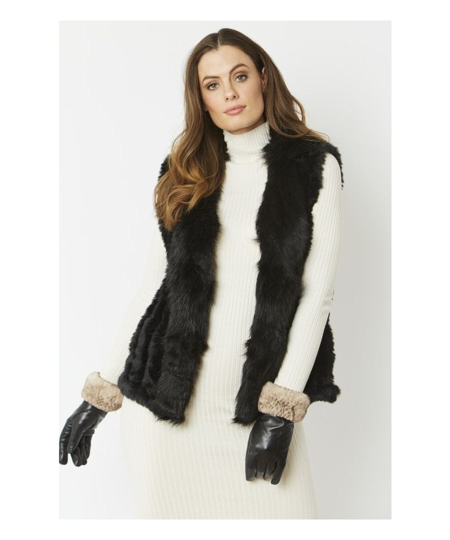 Image for Cashmere Blend Faux Fur Gilet