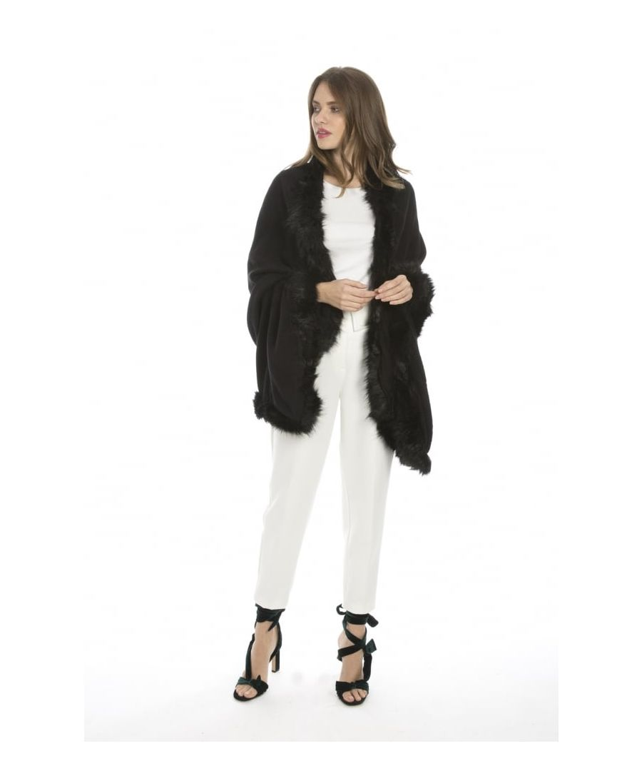 Image for Faux Fur Cashmere Wrap