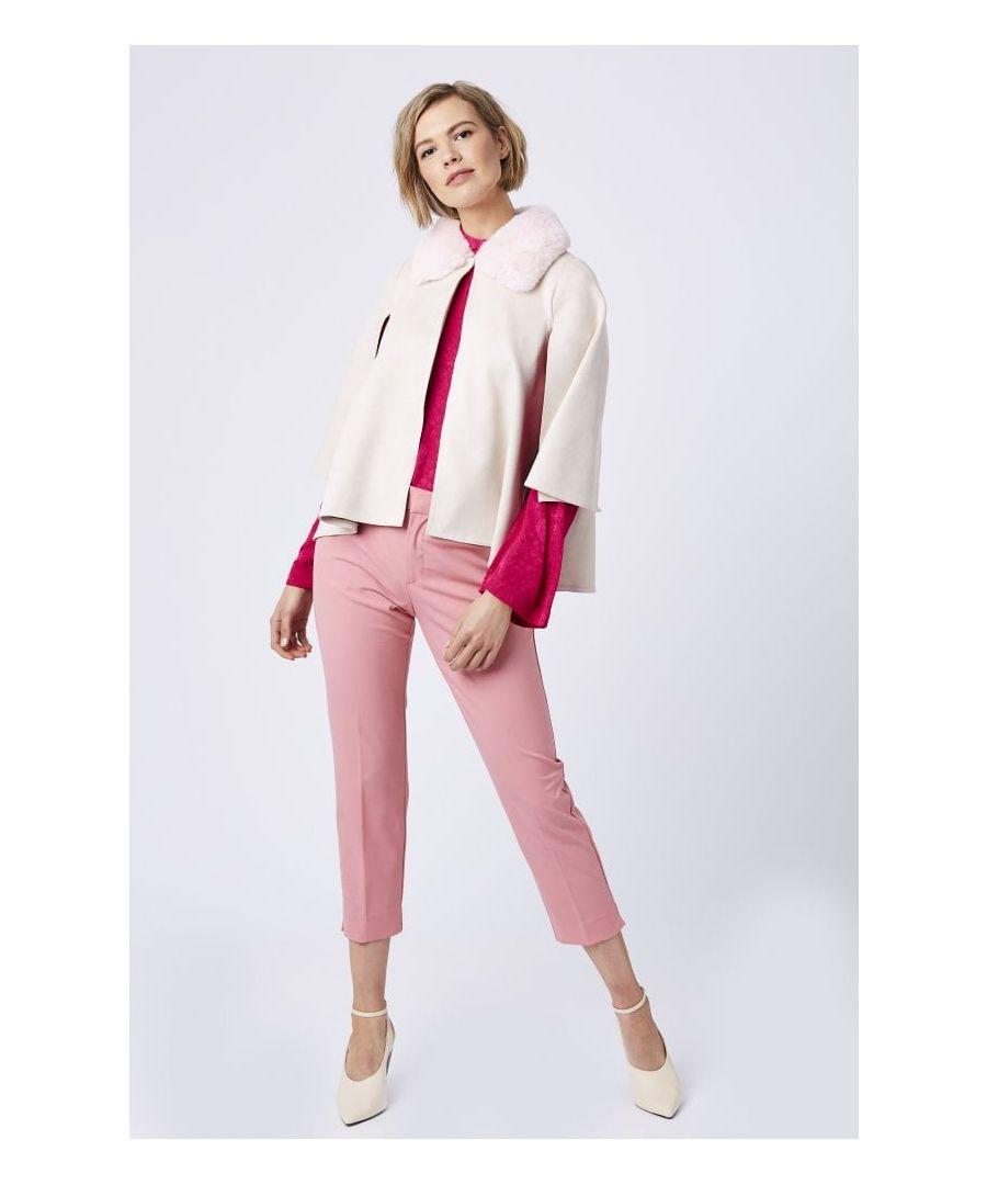Image for Faux Fur Faux Suede Jacket