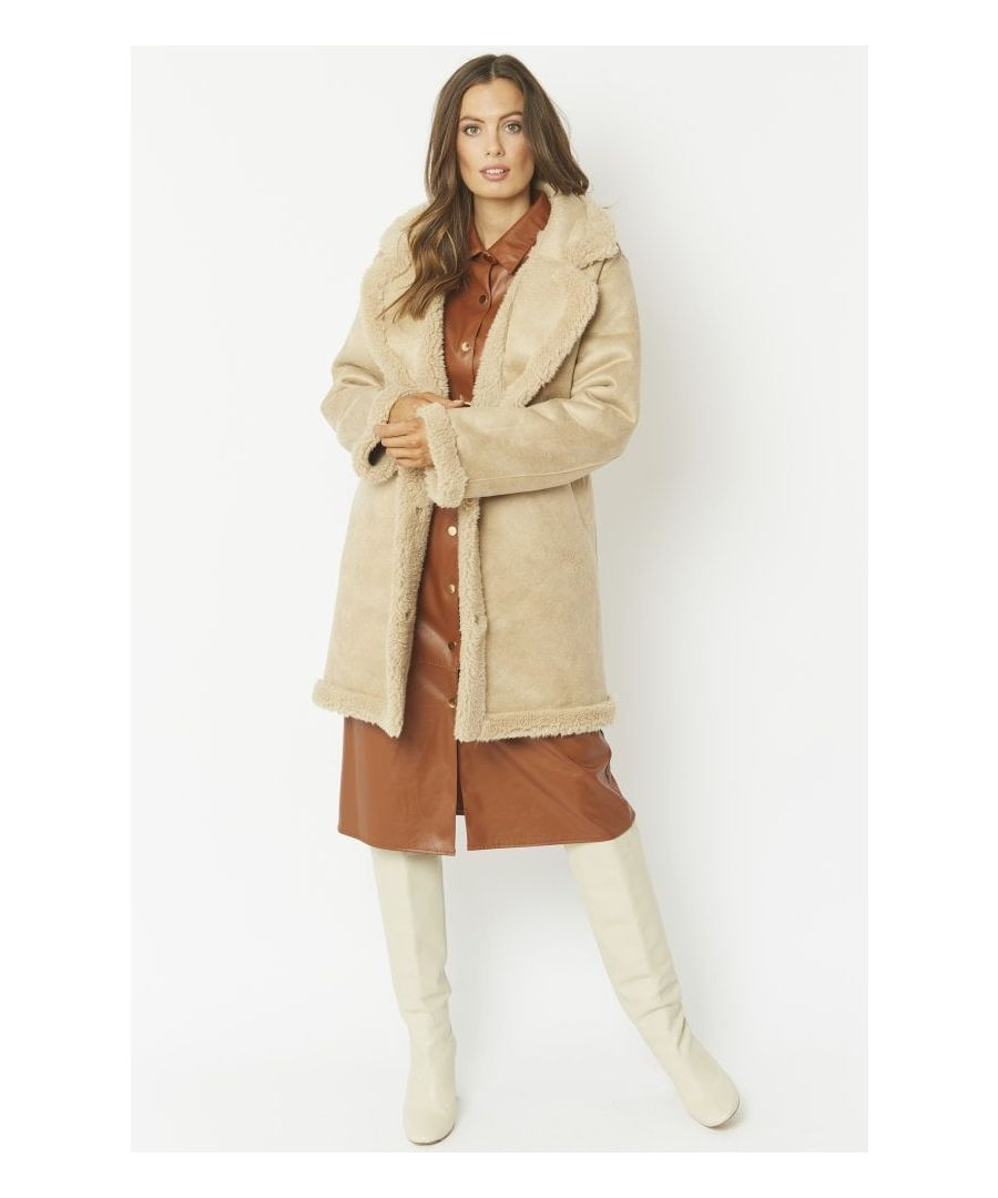 Image for Faux Shearling Reversible Coat
