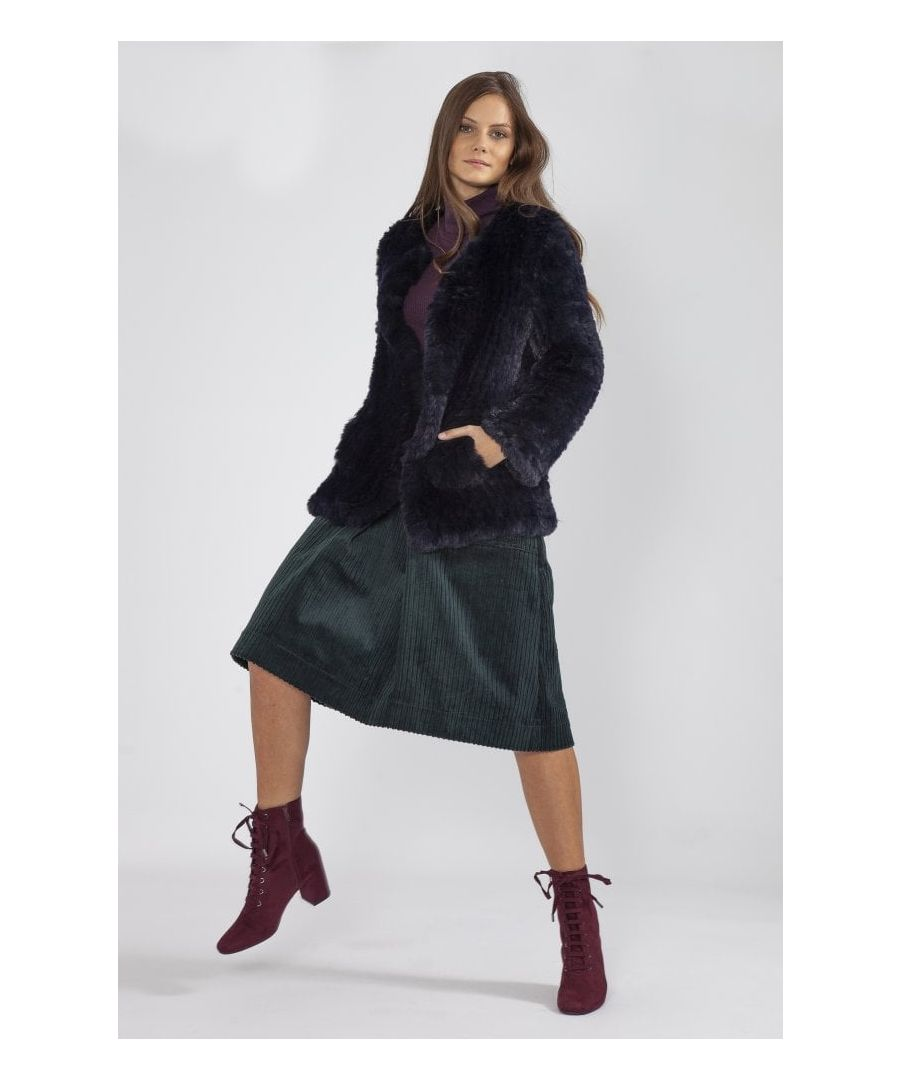 Image for Hand Knitted Faux Fur Jacket
