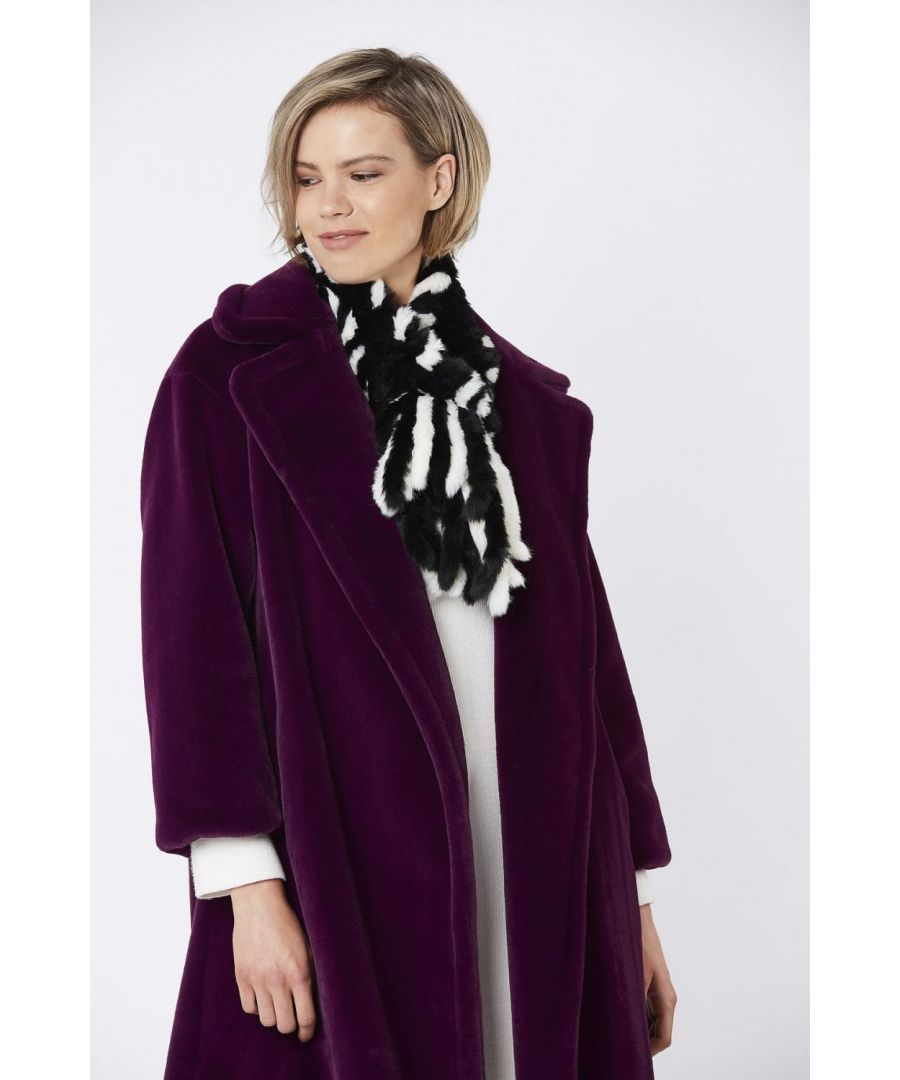 Image for Hand Knitted Faux Fur Scarf