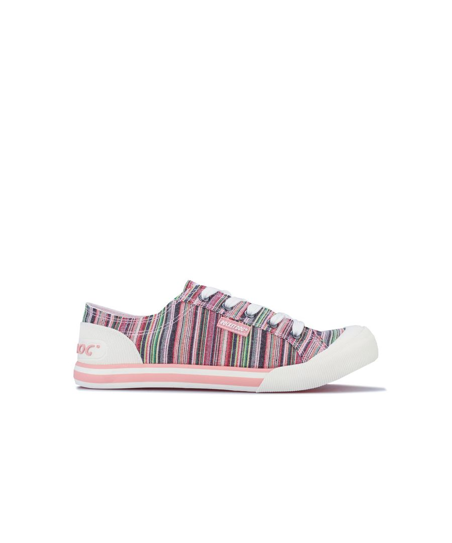 Image for Women's Rocket Dog Jazzin Sammie Stripe Pumps in Pink