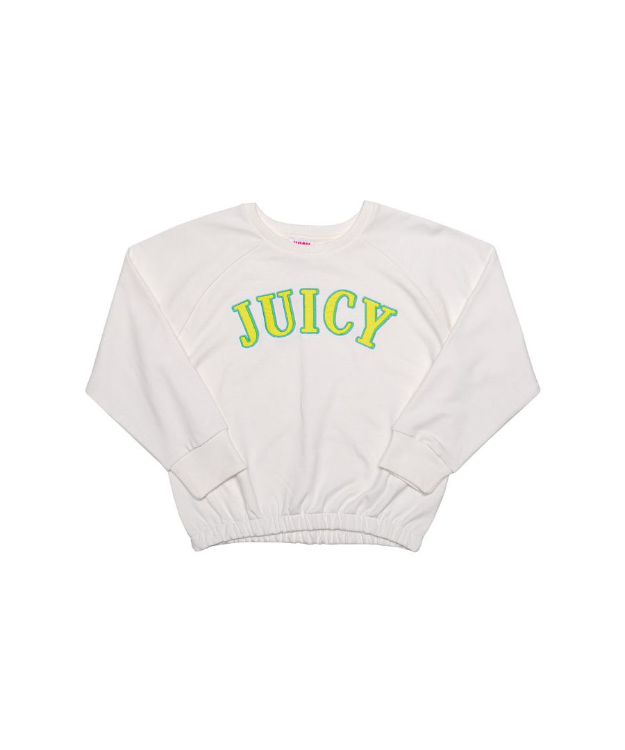 Image for Girl's Juicy Couture Infant Applique Sweat in White
